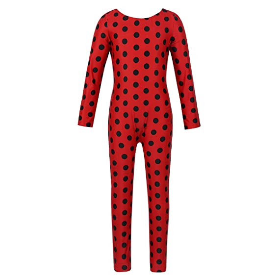 Agoky Disfraz de Ladybugs para Niña Infantil Cosplay Traje ...