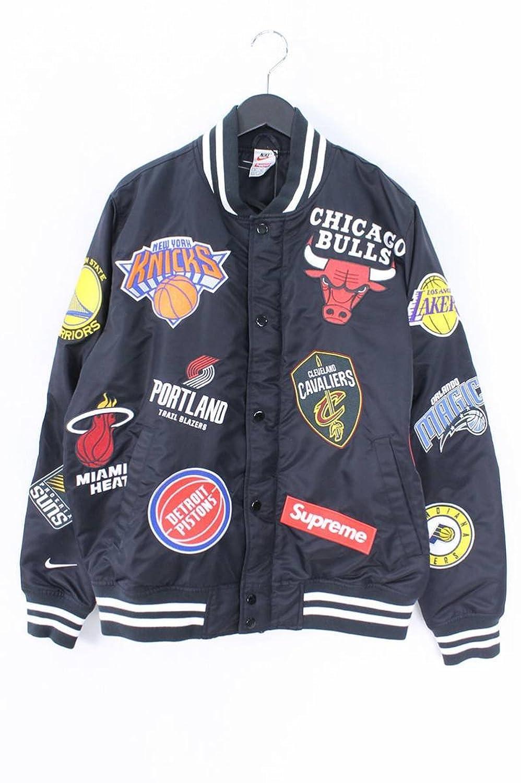 (シュプリーム) SUPREME ×ナイキ/NIKE 【18SS】【NBA Teams Warm-Up Jacket】ワッペンデザインウォームアップジャケット(M/ブラック) 中古 B07FT9QYGC  -