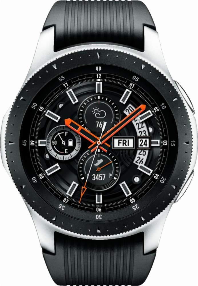 Samsung SM-R805UZSAXAR Galaxy Watch Smartwatch 46mm Stainless Steel LTE GSM (Unlocked), Silver (Renewed) by Samsung