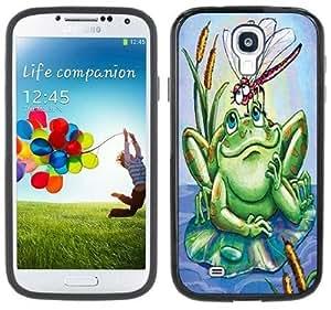 Frog Dragonfly Handmade Samsung Galaxy S4 Black Bumper Hard Plastic Case