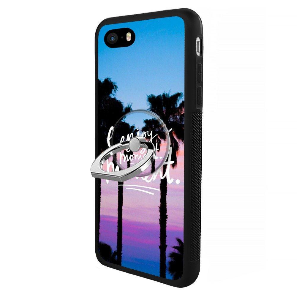 bc2dc44388d Bbfive - Carcasa Personalizada para iPhone 5S 5 SE, con Soporte para  Anillas, TPU + PC, Beach Palm Tree Enjoy Every Moment: Amazon.com.mx:  Electrónicos