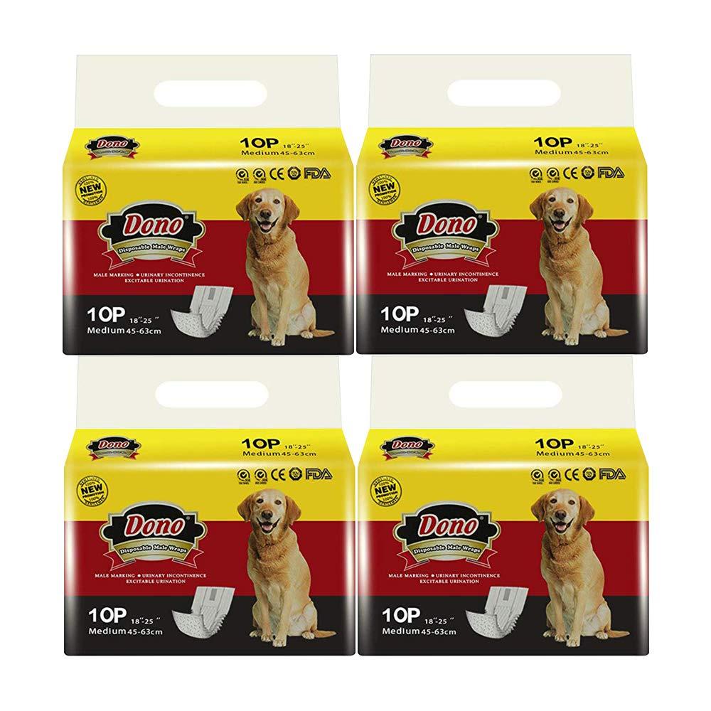 que incluyen cuatro tama/ños pa/ñales con indicador de humedad Pa/ñales desechables para perros Dono Los envolturas para perros para perros Pa/ñales suaves s/úper absorbentes para mascotas