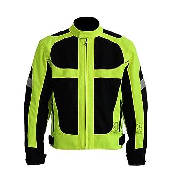 Chaqueta para motocicleta respirable para verano, chaqueta para motocross, carreras y conducción todoterreno, resistente al viento, con protecciones ...