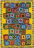PR'S 8FTX11FT KIDS EDUCATIONAL/PLAYTIME RUG 7FT.4INX10FT.4IN (ABC Blocks)