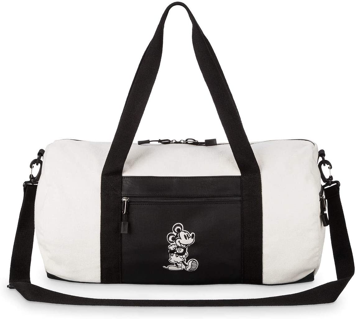 Loungefly x Disney Mickey Mouse Canvas Duffle Bag Taupe Black, One Size