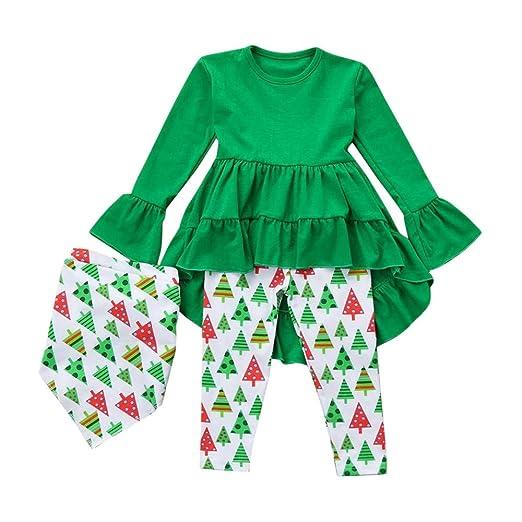 4af5f319ff19 Amazon.com  ❤ Mealeaf ❤ Toddler Christmas Outfits Kids Girl ...