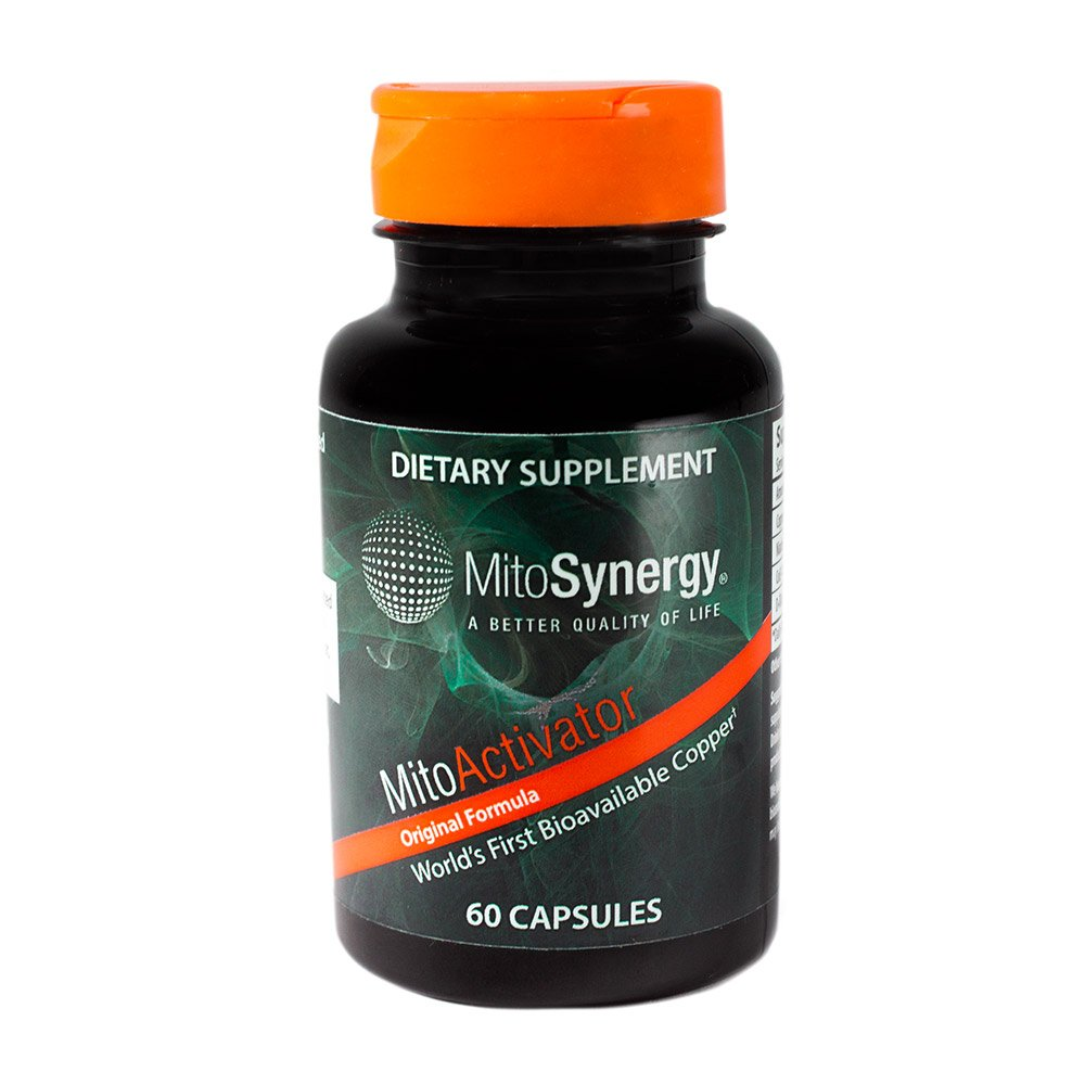 MitoSynergy - MitoActivator - Highly Bioavailable Copper Mineral Supplement - Patented Nutrient Complex - 60 Capsules