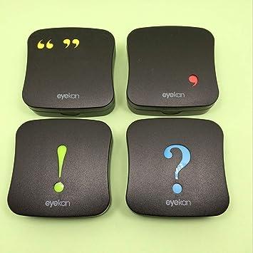 Amazon.com: HEALIFTY Punctuation Mark Contact Lenses Case ...