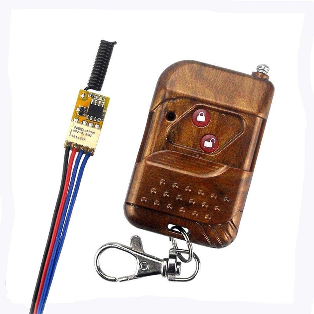 Wireless Remote Control Switch Tiny Mini Single Line Change Relay Switch Control Module Lock Switch Power Switch Relay Switch 3.7V Universal 12v