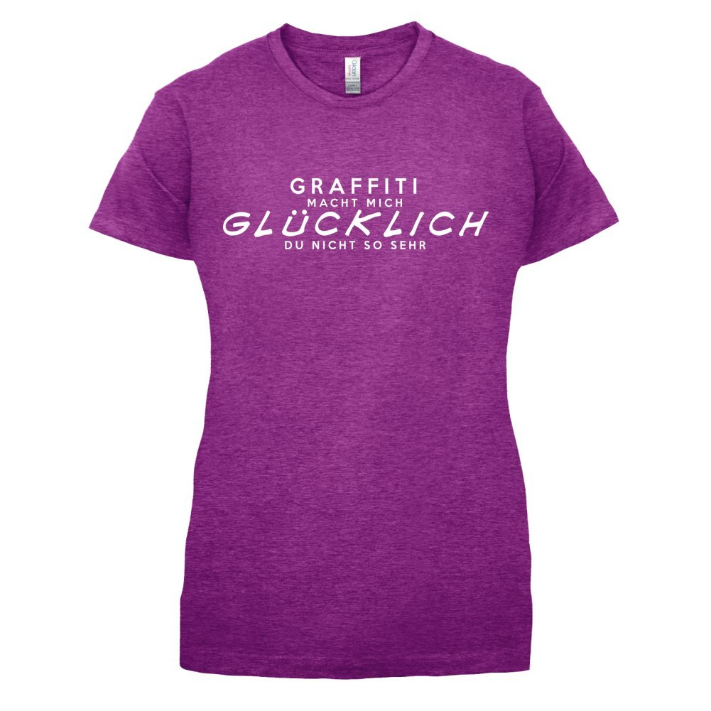 Graffiti macht mich glücklich - Damen T-Shirt - 14 Farben: Amazon.de:  Bekleidung