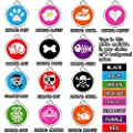 CNATTAGS Stainless Steel with Enamel Round Pet ID Tags Various Designs and Colors by CNATTAGS LLC