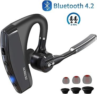 DUTISON Auriculares inalámbricos Bluetooth con 95% de cancelación de ruido y micrófono dual manos libres V4.2, soporte para oído izquierdo / derecho, auriculares inalámbricos: Amazon.es: Electrónica