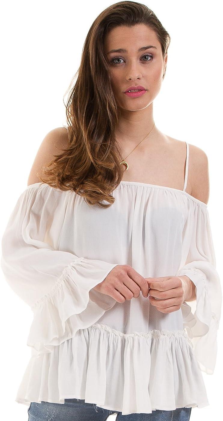 Vila Top ibicenco Tirantes de Clothes (XS - Blanco): Amazon ...