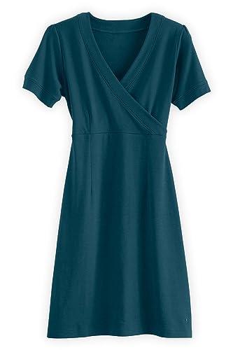 Fair Indigo Organic Fair Trade Wrap Front Dress