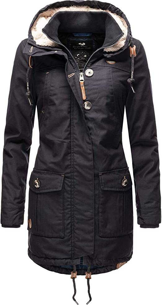 Ragwear Damen Winterparka Kurzmantel Monadis Black Label XS-XXL