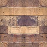 Home Decor Line CR-54727 Natural Woods Peel & Stick Foam Tiles