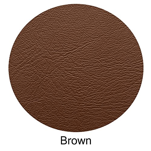 Bar Stool Cover Replacement Staple On Seat Top Made With Heavy Duty Commercial Grade Vinyl (17 inch Diameter, Brown)