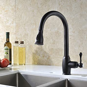 Pre Rinse Kitchen Faucet Oil Rubbed Bronze With Pull Out Sprayer Delle Rosa  Single Handle