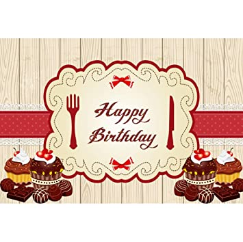 OERJU 3x2m Cumpleaños Fondo Feliz cumpleaños Chocolate ...