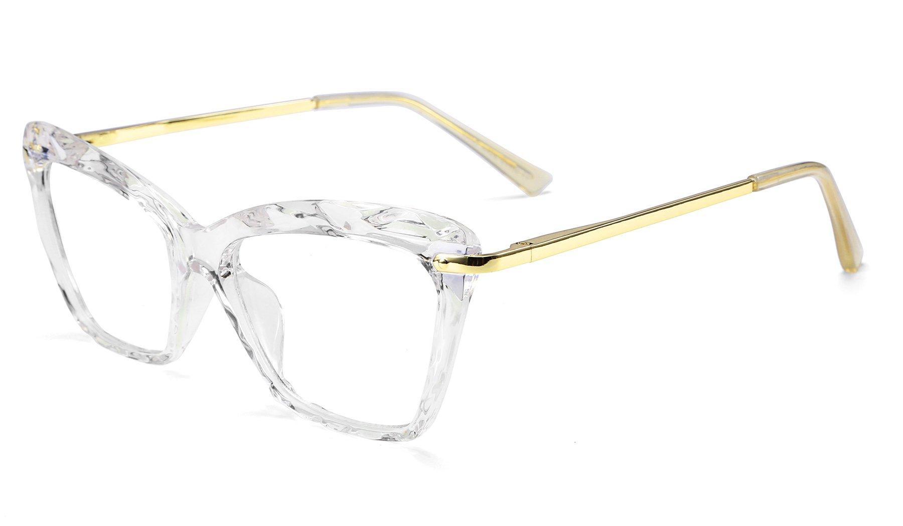 edabd40e0d12 FEISEDY Cat Eye Crystal Optical Eyewear Non Prescription Eyeglasses Frame  for Women B2440
