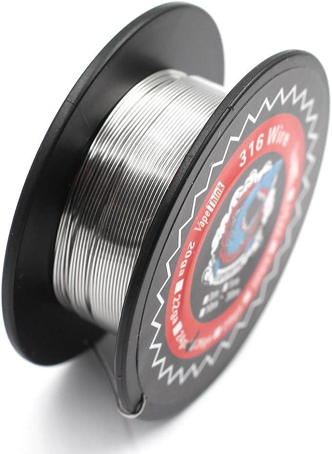 30M Vapethink SS316 24GA Alambre de resistencia,Vape Coil Wire: Amazon.es: Salud y cuidado personal