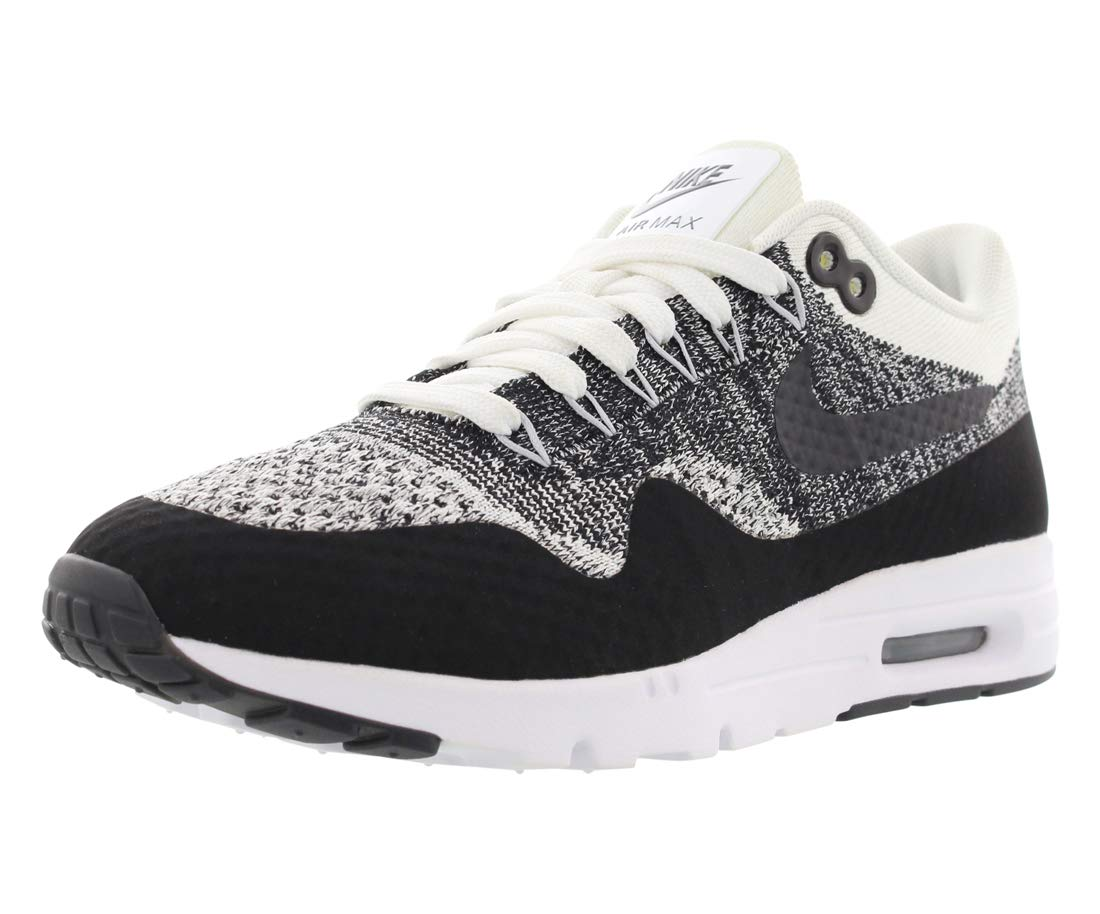 1fc7fef42c35 Galleon - NIKE Air Max 1 Ultra Flyknit Women s Running Shoes White Black  843387-100 (6 B(M) US)