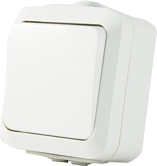 wintop – Interruptor universal (apagado y cambio Interruptor), Aufputz, interruptor de luz para zonas húmedas, 250 V, 16 A, IP54, Elemento de base con Completo Caja: Amazon.es: Jardín