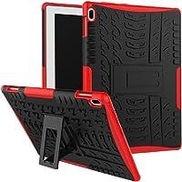 "SCIMIN Lenovo Tab 410Funda, Lenovo Tab 410Funda híbrida, Doble Capa a Prueba de Golpes híbrido Rugged Case Carcasa rígida con función Atril para Lenovo Tab 4de 10.1"" 10(tb-x304°F), Rojo"