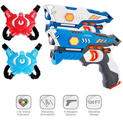 ComTec Laser Tag for Kids, Laser Tag Sets with Gun and Vest, Laser Guns  Toys Gift for Boys Girls Game Party Multiplayers Indoor Outdoor- Infrared
