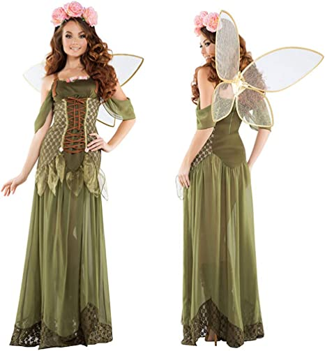 1-1 Fairy Tales Mujeres Adultas Cosplay Bosque Verde ángel Elf ...