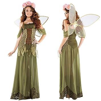 0-0 Cuentos de Hadas Vestido de ángel Elf Flor de Hadas ...