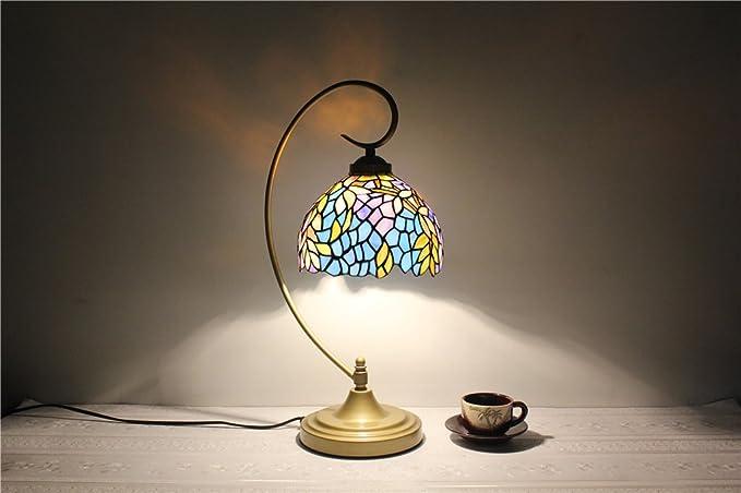 Lampada Scrivania Viola : Viola glicine cascata creativo comodino lampada da tavolo da 8