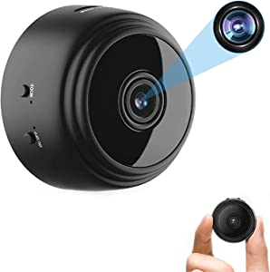 OVEHEL Mini WiFi Spy Camera HD 1080P Wireless Hidden Camera Video Camera Small Nanny Cam with Night Vision and Motion Activated Indoor Use Security Cameras Surveillance Cam for Car Home Office