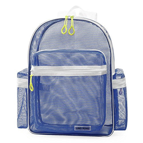 Student Sport See Through Mesh School Backpack Beach Sand Away Backpack For Men - Sale Backpacks For Mesh