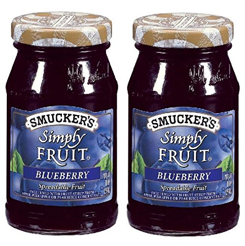 Smucker's Blueberry Simply Fruit Spread (2 Pack) 10 oz Jars