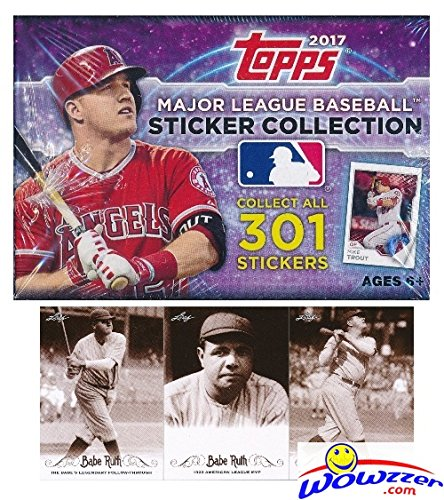 2017 Topps MLB Baseball Stickers MASSIVE Factory Sealed 50 Pack Box with (Collection Baseball)