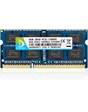 DUOMEIQI 8GB DDR3L / DDR3 1600MHz SODIMM PC3L / PC3-12800 2Rx8 1.35V / 1.5V CL11 204 Pin Non-ECC Unbuffered Laptop RAM Notebook Memory Module for Mac, Intel and AMD System