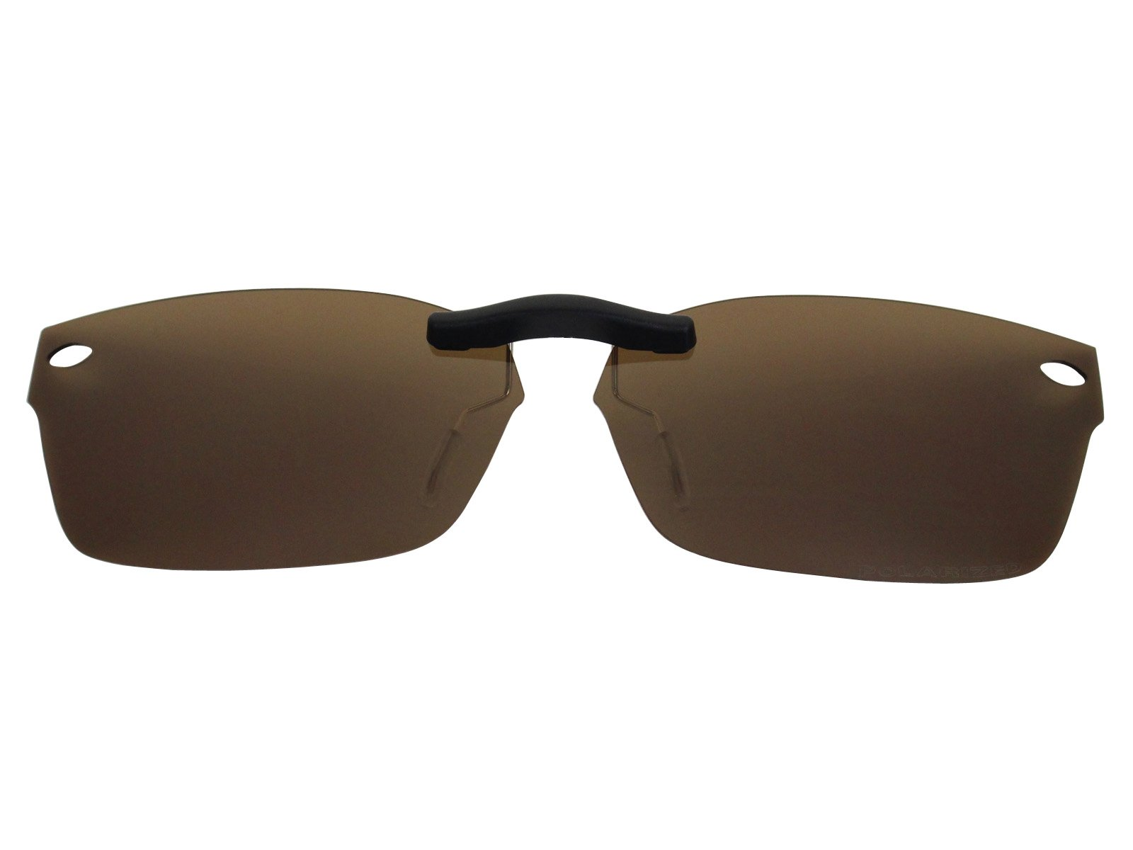 Custom Fit Polarized CLIP-ON Sunglasses For Ray-Ban RB5150 48X19 Brown by COODY (Image #1)