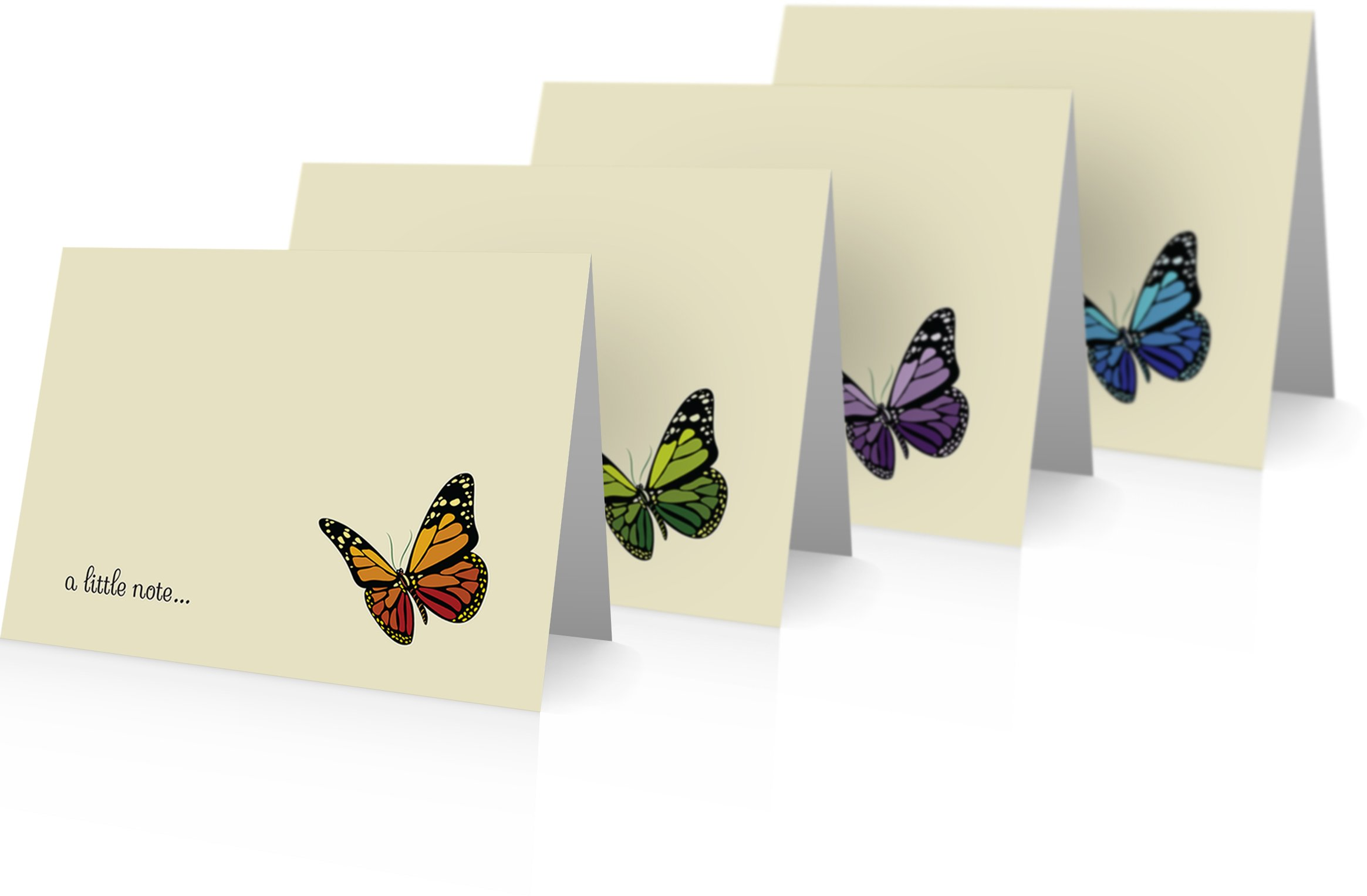 Butterfly Thank You Cards - 24 Cards and Envelopes - Butterfly Notecards