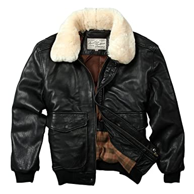 Avirex fly jacket genuine leather jacket men sheepskin coat bomber ...