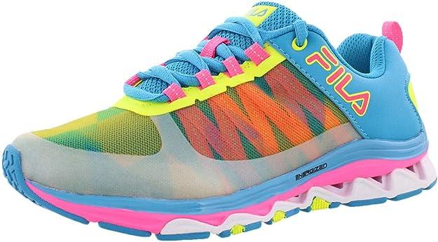 Fila Fractal Zapatillas de correr de goma para mujer, hechas a mano con malla energizada, EVA, (Blu/Neo/Fsh), 36.5 EU: Amazon.es: Zapatos y complementos