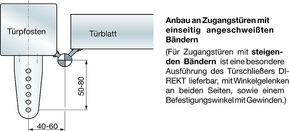 Dictator T/ürschlie/ßer DIREKT 200 600N inkl schwarz Befestigungsmaterial