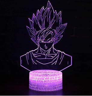3D Lámpara óptico Illusions Luz Nocturna, CKW 7 Colores Cambio de Botón Táctil y Cable USB para Cumpleaños, Navidad Regalos de Mujer Bebes Hombre Niños Amigas (Dragon ball 1): Amazon.es: Iluminación