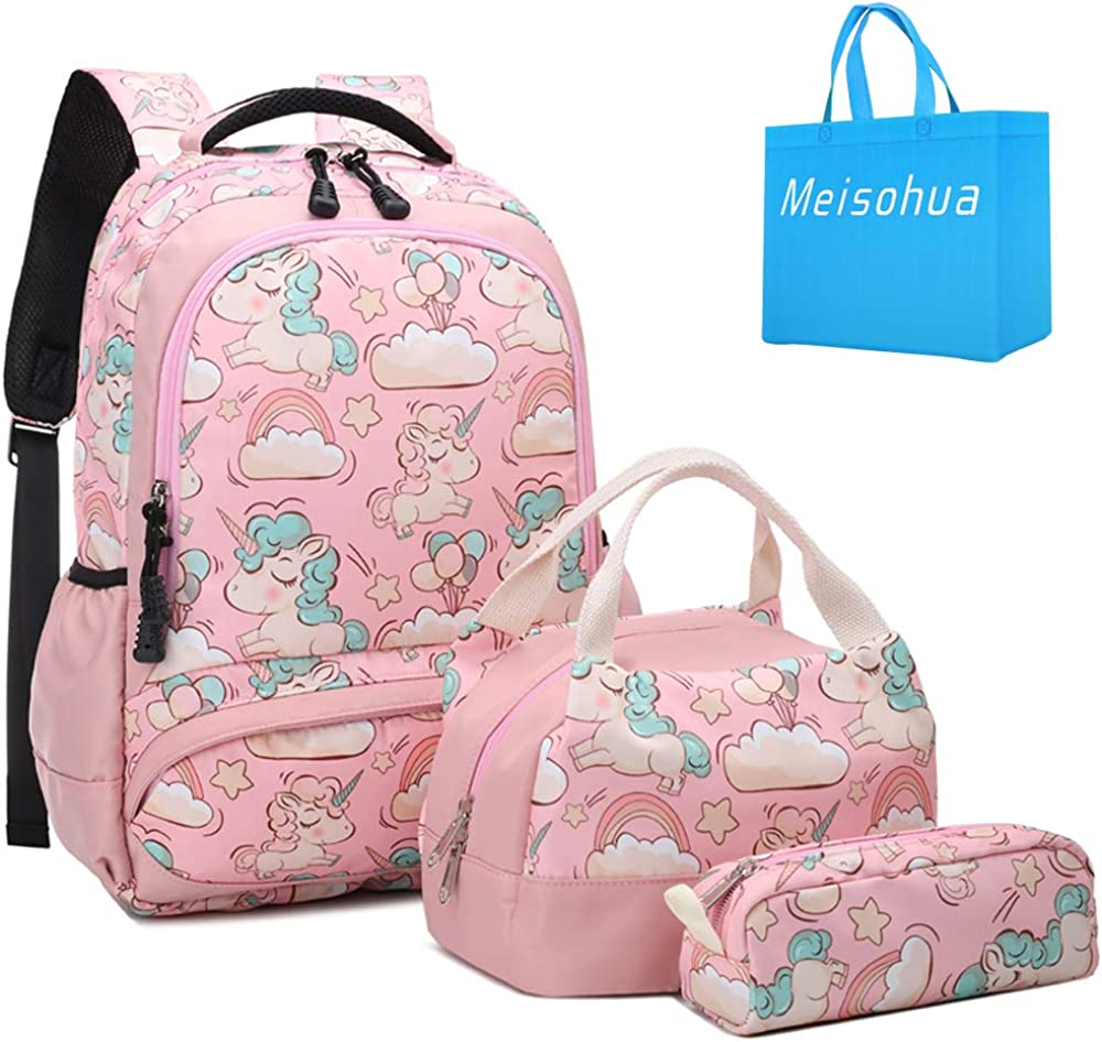 Pink Princess Kids Backpack 11 Inch School Bag with Pencil Case for Kids