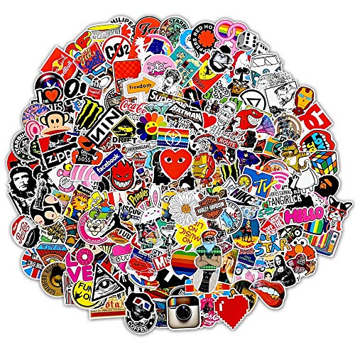 200Pcs Cool Random Sticker(50~1100 Pcs),Fast Shipped by Amazon.Random Vinyls Decals for Laptop,Cars,Motorcycle,Bicycle,Skateboard,Luggage...