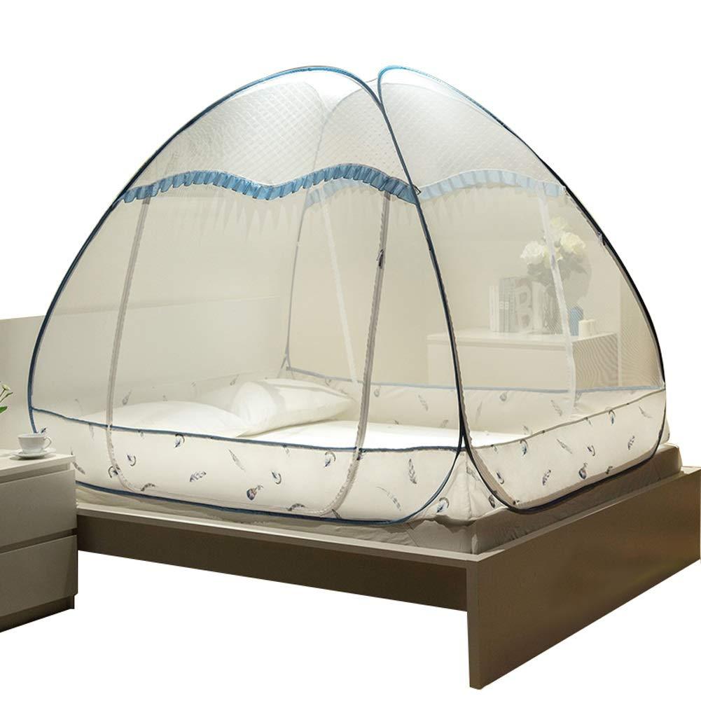 蚊帳 ポータブル蚊帳 - ポップアップ蚊取り網 - ベッド反蚊に刺されテント - 生きている最下の設計 B07PBDVPD5