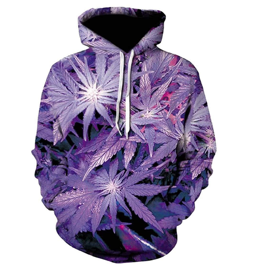 Mens Hoodie Long Sleeve Patterns 3D Pullover Sweatshirts with Drawstring