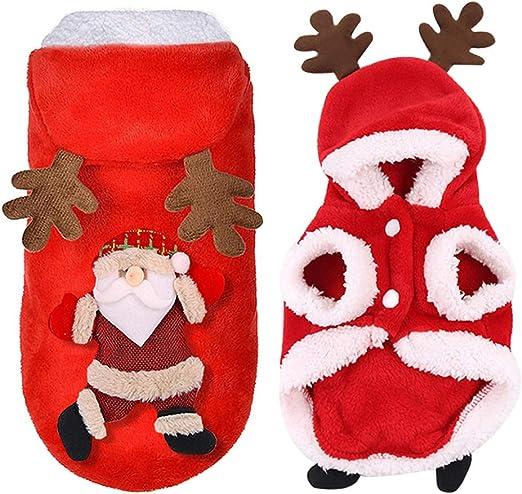 JHFF - Disfraz de Papá Noel para perros, gatos, Navidad, para ...