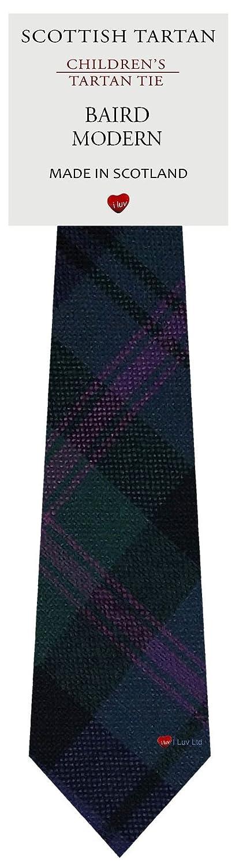 Boys Clan Tie All Wool Woven in Scotland Baird Modern Tartan I Luv Ltd