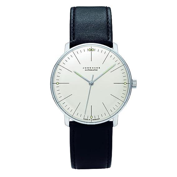 Junghans MAX Bill 027/3501.00 - Reloj de Caballero automático, Correa de Piel Color Negro: Amazon.es: Relojes